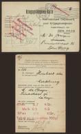 "Kriegsgefangene-karte (Prisonnier De Guerre, Walcourt+ N° De Censeur ""4"") > Merseburg + Gepruft F.a. Via Den Haag (1916) - Prisonniers"