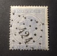 Belgie - Belgique 1865 - 1866 - N° 18 -  20c  - Obl. - Bureau  424 - Bruxelles (luxemb.) - 1865-1866 Profilo Sinistro