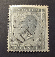 Belgie - Belgique 1865 - 1866 - N° 17 -  10c  - Obl. - E.I.V (Bruxelles Est 4) - 1865-1866 Profilo Sinistro