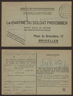 "Kriegsgefangenensendung ""La Cantinne Du Soldat Prisonnier"" (1916, Gardelegen) > Bruxelles / Gepruft - Krijgsgevangenen"
