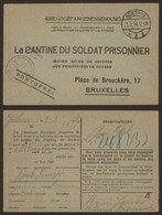 "Kriegsgefangenensendung ""La Cantinne Du Soldat Prisonnier"" (1916, Gustrow) + Obl ""Kommandantur Des Kriegsgefangenen Lage - Prisonniers"
