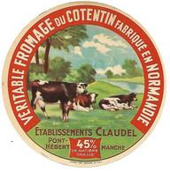 ETIQU. FROM. CLAUDEL Pont-Hébert 45% Manche - Cheese