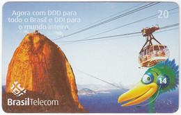 BRASIL Q-077 Magnetic BrasilTelecom - Landmark, Sugar Loaf - Used - Brasile