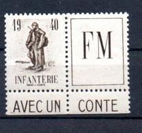 N1-7  France FM N° 10A **  à 10 % De La Côte. A Saisir !!! - Militaire Zegels (zonder Portkosten)