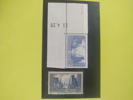 Deux Timbres Types 2 Et 3 - PORT DE LA ROCHELLE - N°261b (I) NEUF Tbe Avec Date - Ongebruikt