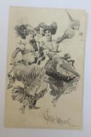 Künstlerkarte, Frauen, Männer, Mode, Schirm, 1908  ♥ (43072) - 1900-1949