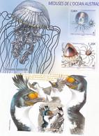 TAAF Nouveauté 2021 Méduses De L'ocean Austral Et Gorfou Feuillet Neuf ** TB MNH Sin Charnela Faciale 3 - Nuevos