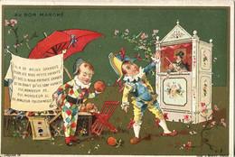 Chromos .n° 23486. Au Bon Marche . Il A De Belles Oranges ... Monsieur Polichinelle .jeunes Enfants . - Au Bon Marché