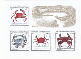 TAAF Nouveauté 2021 Crabes Feuillet Neuf ** TB MNH Sin Charnela Faciale 5 - Nuevos