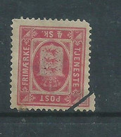 Denmark, 1871, 4k Official, MH *, Dethatched NW  Corner - Dienstzegels