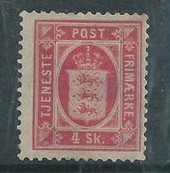 Denmark, 1871, 4 Sk Official, MH *, - Dienstzegels