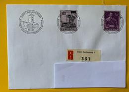 13429 - Bellinzona Castelgrande 700e  Confédération 10.01.1991 Sur Lettre Recommandée Timbres Nos 246 & 249 - Storia Postale