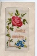 Cpa Brodée  Amitie Sincere - Bestickt