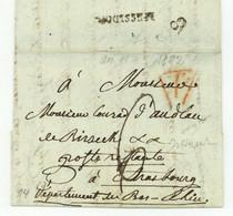 Paris 1803 Pour Conrad D'Andlau De Birseck Poste Restante A Strasbourg - 1801-1848: Precursori XIX