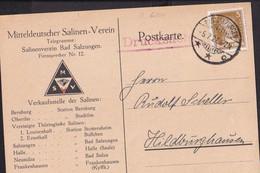 NBL6 /   Bad Salzungen Firmenkarte Salinen Verein 1927 - Bad Salzungen
