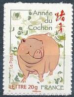 France 2007 - 4001A Timbre Adhésif Année Du Cochon  - Neuf Rare. - Autoadesivi