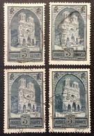 259 ° Types I - II - III - IV Cathédrale Reims Oblitéré - Usati