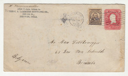 The C. Lammers Bottling Co., Denver Company Preprinted Postal Stationery Letter Cover Posted 1905 To Belgium B210526 - Sin Clasificación