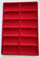 LOT 10 BOX - COLLECTEURS - PLATEAUX VELOURS AVEC COUVERCLE POUR DECORATIONS OU MEDAILLES - Non Classés