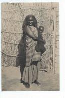 DJIBOUTI : Carte Photo Ethnique De 1947 : Femme Et Son Bébé - Djibouti