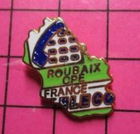 415b Pin's Pins / Beau Et Rare / THEME : FRANCE TELECOM / PIECE DE PUZZLE ROUBAIX CPE - Telecom Francesi