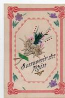 Carte Postale Fantaisie  Souvenir Du Rhin - Other
