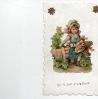 Carte Postale Fantaisie  Enfant Decoupis - Babies