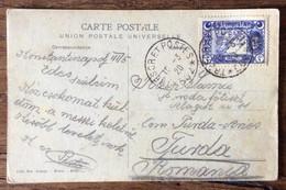 LEVANTE TRESOR ET POSTES 502 - 10/3/20  - CARTOLINA DI CONSTANTINOPLE MOSQUES SULEYMANIE' PER TURDA - ROMANIA - Mundo