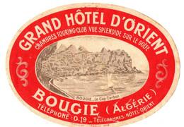 GRAND HOTEL D'ORIENT .BOUGIE . ALGERIE - Adesivi Di Alberghi