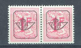 België PRE790A XX In Paar Cote €250 Perfect - Typografisch 1967-85 (Leeuw Met Banderole)