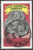 St Vincent. 1987 East Carribean Currency. 15c Used. SG 1102 - St.Vincent (1979-...)