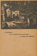 Carte Dessin L'Enclos Le Vernet La Varenne  1933 Adressée à Henri Bosco Ecrivain Né Avignon Tapis Vert Auch - Andere Gemeenten