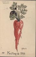 CPA Kulture De 1914 Illustrateur Gilbert B. Tête Soldat Allemand Sur Carotte Texte Sur Départ Dardanelles - War 1914-18
