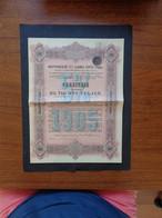 RUSSIE - EMPRUNT INTERIEUR 5% 1905 - OBLIGATION 1 000 ROUBLES - Unclassified
