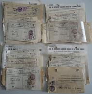 France 1933/6 - Petit Lot De 75 Timbres Fiscaux 25,50,75c Sur Quittances PTT, Impôts, Alloc. Familiales - Fiscale Zegels