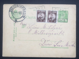 ROMANIA 1932 Stationary Card / Carta Postale - To Târnăveni / Dicio San Martin - Mandate Postmarks - Covers & Documents
