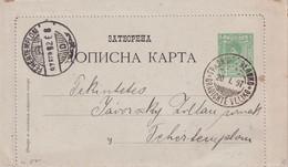 SERBIE 1897 ENTIER POSTAL/GANZSACHE/POSTAL STATIONARY CARTE-LETTRE DE GRADICHTE VELIKO - Serbia