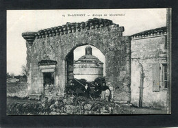 CPA - ST AGNANT - Abbaye De Monterneuf, Animé - Otros Municipios