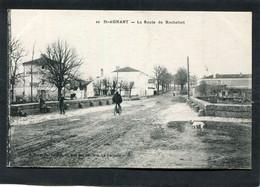 CPA - ST AGNANT - La Route De Rochefort, Animé - Otros Municipios