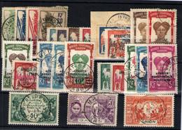 Gabón Nº 92/95, 100,103A/6, 109/12, 114, 116A/23. Años 1924/31 - Oblitérés