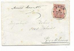 SH 0917. N° 57 DEPÔT-RELAIS ASCH * 8 FEVR 1899 * S/petite Enveloppe Carte De Visite. TB - Postmarks With Stars