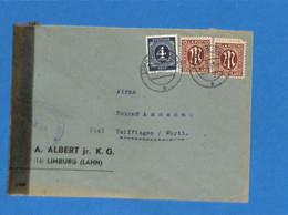 Allemagne Bizone 1946 Lettre De Limburg, Avec Censure (G1816) - American/British Zone