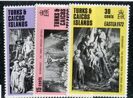BC 7692 *Offers Welcome* 1972 Sc.250-52 Mnh** - Turks And Caicos