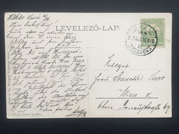 HUNGARY 1907 Postcard - Szabadka / Subotica Serbia To Wien Austria - Covers & Documents