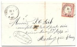 Moselle (Lemberg) L 1gr Aigle Obl. LEMBERG I LOTHRINGEN - 1872 - Elzas-Lotharingen
