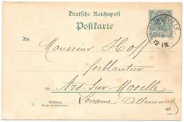 Moselle (Longeville) EP 5pf Reichspost Obl. LONGEVILLE (Kr MEt) - 1892 - Elzas-Lotharingen