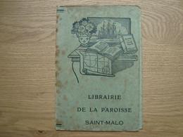 PROTEGE-CAHIER LIBRAIRIE DE LA PAROISSE SAINT-MALO - Omslagen Van Boeken