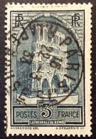 259 ° 2 R.Lapérouse Paris 75 Type IV Cathédrale Reims Oblitéré - 1921-1960: Periodo Moderno