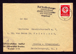 DR Dienst  Briefabschnitt BRESLAU - Berlin-Wilmersdorf - 22.6.42 - Mi.183 - Officials