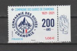 FRANCE / 2021 / Y&T N° 5490 ? ** : Bicentenaire Compagnie Des Guides De Chamonix X 1 BdF D - Nuevos